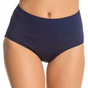 TYR Women's Solid High Waist Bikini Bottom Navy